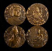 China 2013 60mm Brass Medals 4 Pieces Set - Chinese Grotto Art