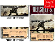 20 Personalized Call Of Duty Printed Candy Bar Wrappers W/foil Or Digital File