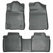 Husky Weatherbeater Front And 2nd Seat Floor Liners Grey For Toyota Camry 07-11