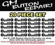 20 Sets Of Gm Button Stickers Decals Sierra Silverado Climate Control A/c Repair