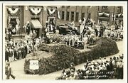 Real Photo Muskegon Mi Michigan 1937 Centennial Parade Us Manistee Forest