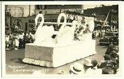 Real Photo Muskegon Mi Michigan 1937 Centennial Parade Postcard Carpenters