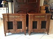 Vintage John Widdicomb Nightstand Pair French Style Nightstands/end Tables