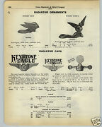 1930 Paper Ad Car Auto Automobile Hood Ornaments Rondson Winged Head Nude Fly