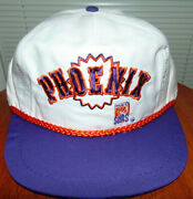 Phoenix Suns Snapback Basketball Nba Hat Cap 90and039s Vintage White Deadstock New