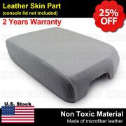 Fits 2007-2013 Toyota Tundra Leather Center Console Armrest Lid Cover Gray