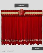 Saaria Stage Home Decorative Movie Velvet Curtains Event Theater Stage 20and039wx9and039h