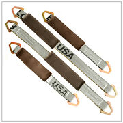 Four 4x Axle Straps 2-21 And 2-31 Silver Tie Down Tow Truck Wrecker Race Car