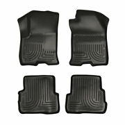 Husky Weatherbeater Front And 2nd Seat Floor Liners Black For Ford Focus 2008-2011