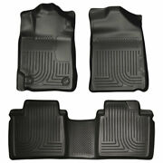 Husky Weatherbeater Front And 2nd Seat Floor Liners Black For Toyota Camry 07-11