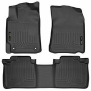 Husky Weatherbeater Front And 2nd Seat Floor Liners Black For Toyota Camry 12-17
