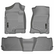 Weatherbeater 1stand2ndrow Floormat Gry For Avalanch/escalade/suburban/yukon 07-14