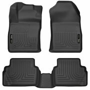 Husky Weatherbeater Front And 2nd Seat Floor Liners Black For Ford Fiesta 11-19