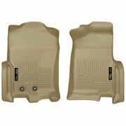 Husky Weatherbeater Front Floor Mats Tan For Ford Expedition/navigator 2015-2017