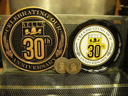 Bells Brewing Michigan 30th Anniv Logo Sign And Tray Beer Advertising Hopslam