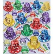 New Years Eve Party Gem Star Deluxe 100-person New Year Party Kit Paper Favors