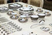 Royalty Porcelain Horse Cheval 75-pc Large Dinner And Sushi Set Service For 6