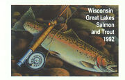 Extremely Rare Wisconsin Salmon And Trout Stamp Block 1992 Error