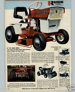 1970 Paper Ad 2 Pg Rugg Rider Lawn Garden Tractor Mower 32 Electric Start Snow