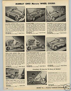 1953 Paper Ad Murray Pedal Car Cars Champion Station Wagon Comet Tractor Trac