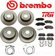 Front And Rear Brake Kit Range Rover Sport 5.0 Natural Aspirated Brembo Trw 10-13