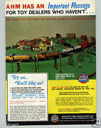 1972 Paper Ad 2 Sided Ahm Toy Electric Train Sets N O Ho Gauge Union Pacific