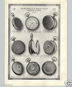 1913 Paper Ad 6 Pg Keystone 14k Gold Pocket Watch Cases Hunting 16 12 0 Size