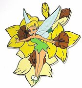Rare Le 100 Disney Auctions Jumbo Pin ✿ Tink Tinker Bell Daffodil Flower Spring