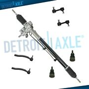 7pc Complete Power Steering Rack And Pinion Suspension Kit For Acura Tsx