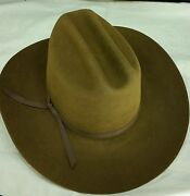 Reed Hill By Rodeo King Western Hat Whiskey Brown 5x Beaver 6 7/8 - Made In Usa