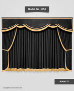 Saaria Ht 4 Velvet Stage And Home Decorative Bright Curtains Drape 8'w X 8'h Black
