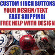 150 Custom 1 Inch Buttons Badges Pins Punk Indie Bands Rock Pinback
