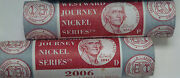 2006 P And D Westward Journey Series Nickel 2 Mint Wrapped Roll