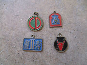 Wwi Era Us Army Infantry Inf Accecharms Worn On Dog Tags Units Emblems Lot