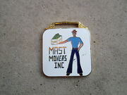 Vintage 1980 Mast Movers Ohio Oh Trucker Trucking Truck Driver Watch Fob Charm