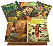 Vintage Comic Book Lot 5 Silver And Bronze Gold Key Classics Illustrated Charlton
