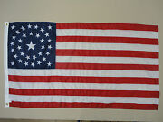 34 Star U.s. Great Star Historical Indoor Outdoor Dyed Nylon Flag Grommets 3and039x5and039