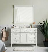 48 James Martin Brittany Cottage White Single Bathroom Vanity + Marble Top Sink