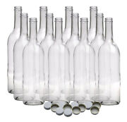 750 Ml Clear Screw Cap Wine Bottles With 28 Mm Metal Screw Caps For Wine Making