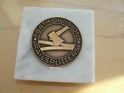 Wwii 84th Division Railsplitters Medal On Marble