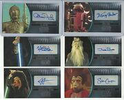 2016 Topps Star Wars Attack Clones 3d Widevision Silver Autograph Card Ed / 25