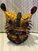 Extremely Rare Tigre Mexican Mask Helmet From Zitlala Tiger Mask Guerrero Mex