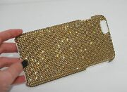 Gold Made With Crystals Bling Rhinestones Glitter Case Cover Iphone 5c