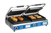 Globe Gpgdue14d Double Sandwich/panini Grill With 14 X 14 Grooved Plates