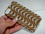 Gold Clear Made With Crystal Bling Rhinestones Case Cover Iphone 5/5s