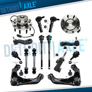 15pc Front Wheel Hub Bearing Control Arm Suspension Kit For Chevy Gmc Hummer