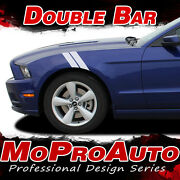 2015 2016 2017 Ford Mustang Gt V6 Double Bar Rally Decals Stripe 3m Pro Vinyl