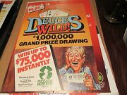 Lottery , Signs / Posters , Vintage , Coillectible .mixed Lot Of 7 , 18 X 25