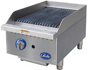 Globe Gcb15g-cr 15 Counter-top Natural Gas Char-broiler Cast Iron Radiant