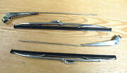 1957 Chevy Windshield Wiper Arms And Blades Correct Reproduction Set Of 4